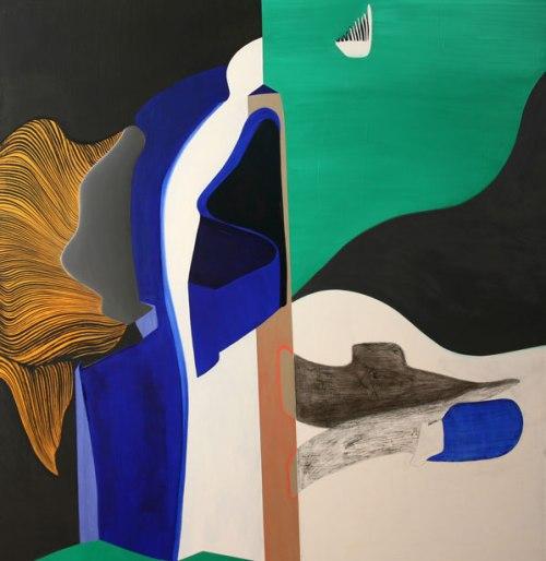 72011. Oli i llàpis sobre tela. 150x150 cm. 2011